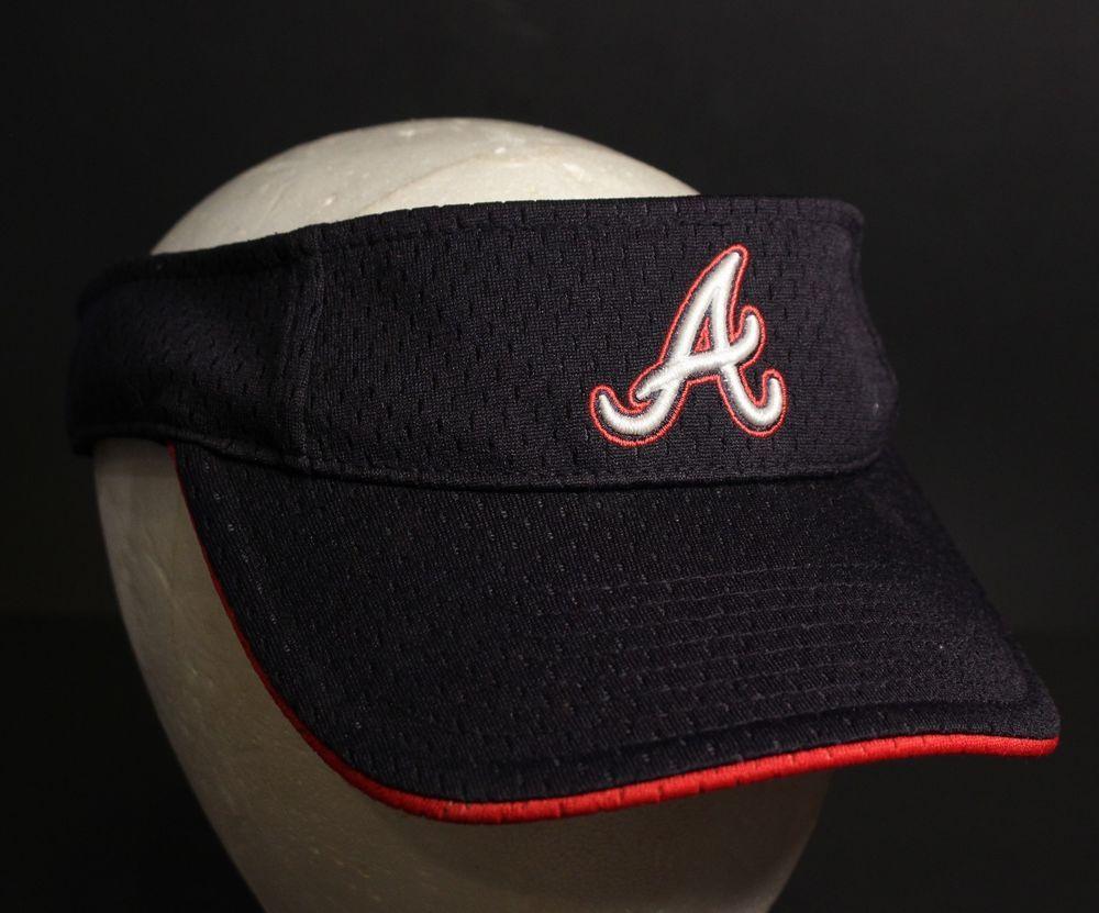 Atlanta Braves Visor Hat Cap Mesh Baseball Adjustable Strapback Navy Red White Twinsenterprice Visor Visor Hats Hats Atlanta Braves