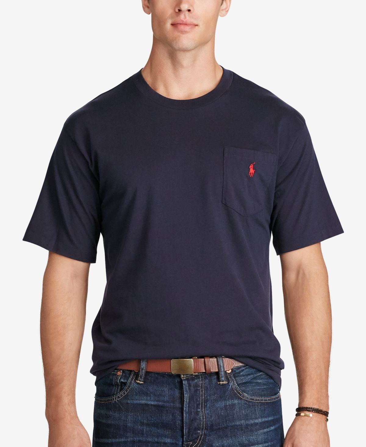 Ralph Lauren Polo Mens Big and Tall Cotton Crewneck T-Shirt