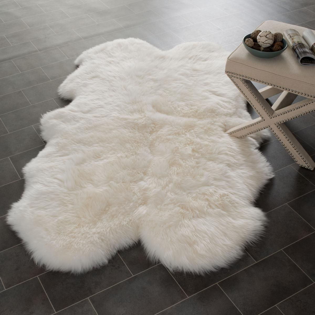 Rug Shs121a Sheep Skin Area Rugs By