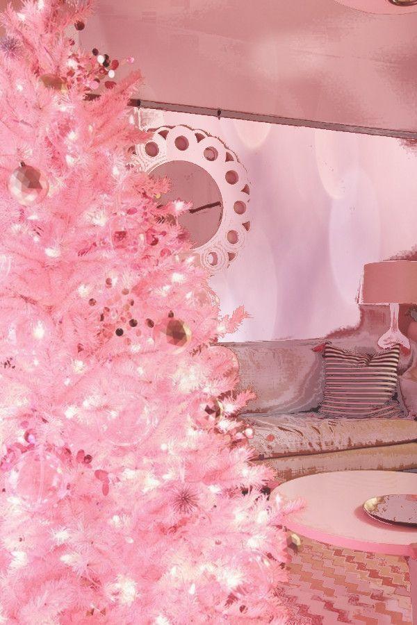 Pink Tree Decoration Pink Holiday Wallpaper . . @prilaga # ...