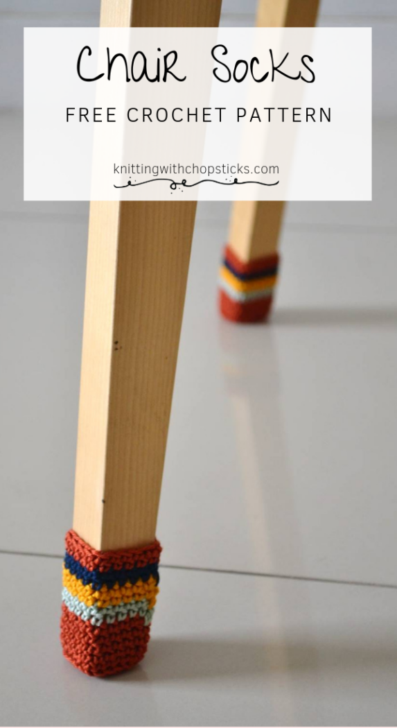 Crochet Chair Socks Pattern | Knitting with Chopsticks – Crochet: Kitchen & Bath