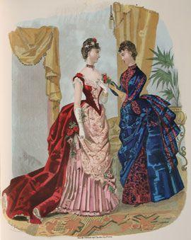 da3209ae4434 Abiti Antichi - Storia della Moda 1883-1890