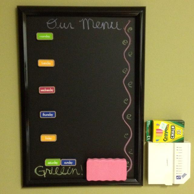 my homemade magnetic chalkboard