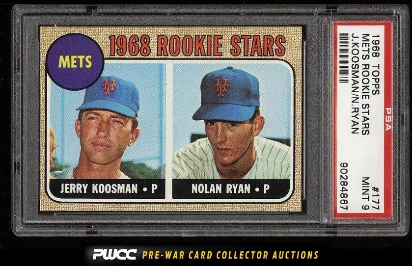 1968 Topps Nolan Ryan Rookie Rc 177 Psa 9 Mint Pwcc