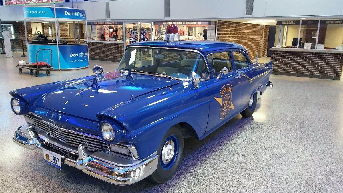 michigan state police 1957 ford classic law enforcement emergency fleet and official. Black Bedroom Furniture Sets. Home Design Ideas