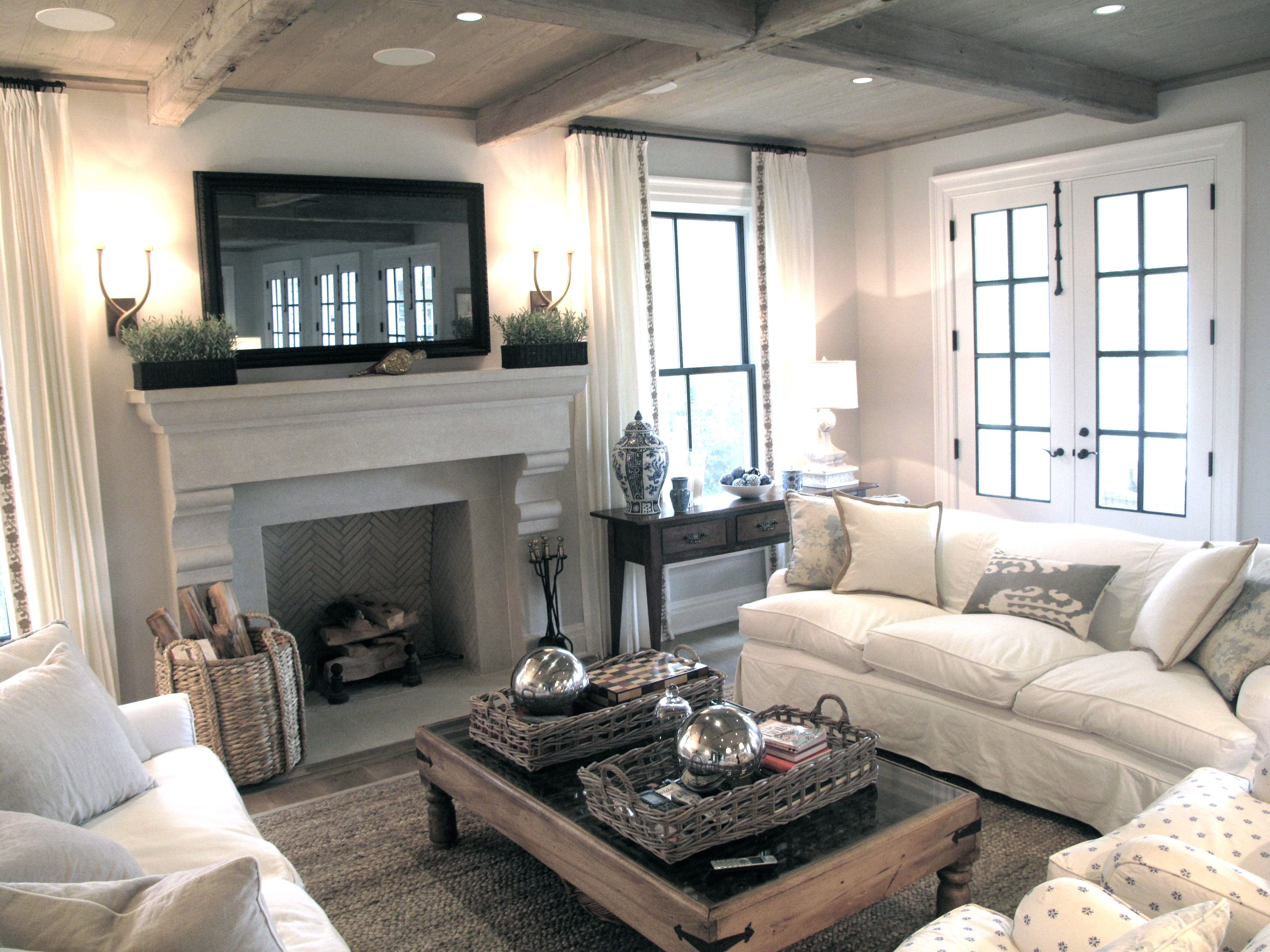 Fireplace Farm House Living Room Family Living Rooms Cozy Living Rooms