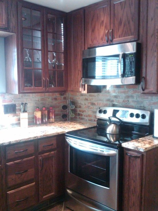 Brick Backsplash Design, Pictures, Remodel, Decor and Ideas - page 2