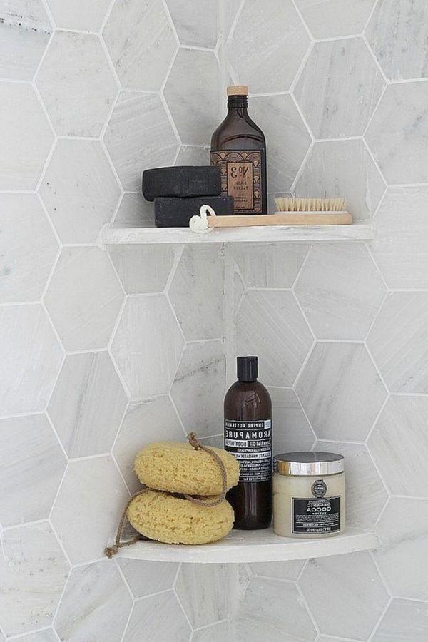 élégant marbre carré carreaux de salle de bain Accessoires de bain ...