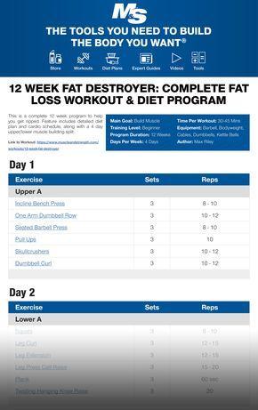 12 Week Fat Destroyer Complete Fat Loss Workout Diet Program