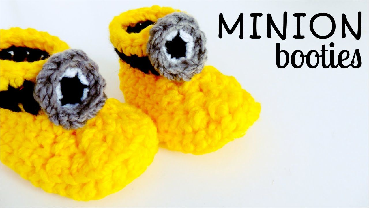 How to crochet Minion inspired boots for baby. Easy and quick. Great ...