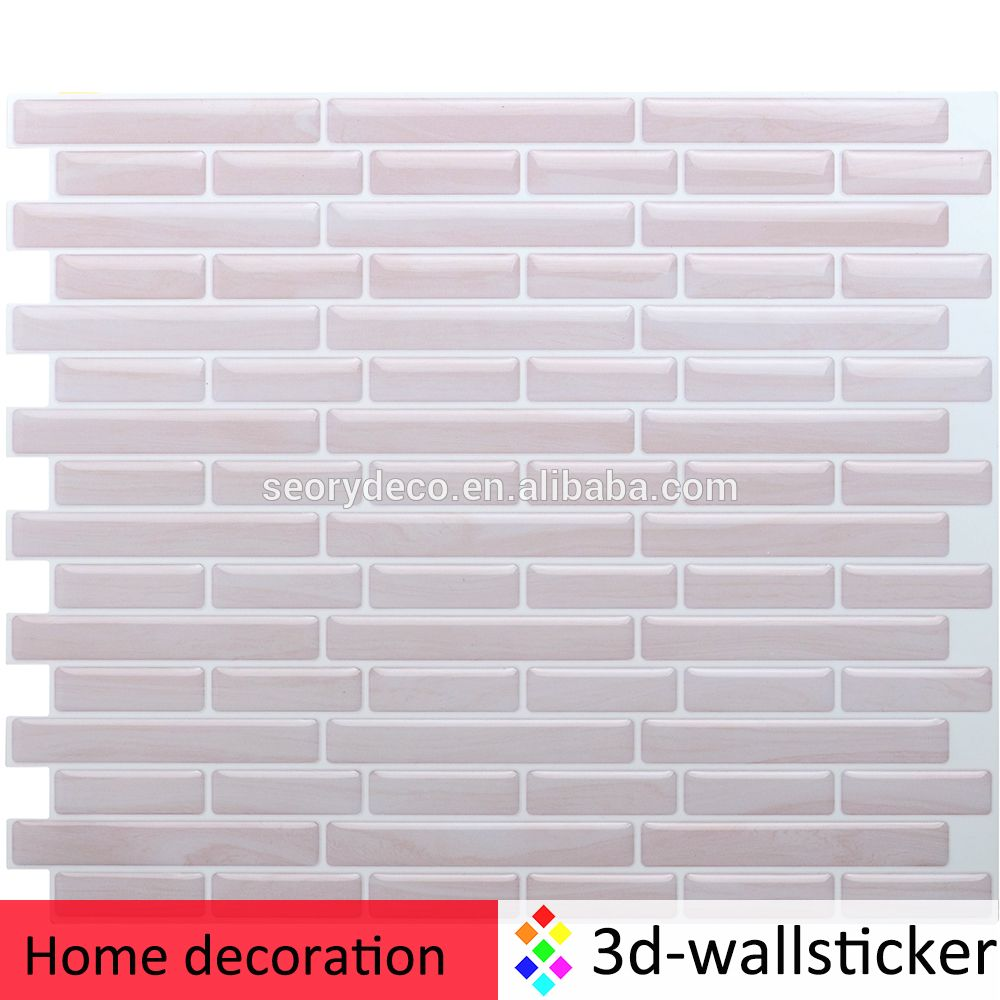 New design high quality self adhesive plastic tiles for bathroom ...