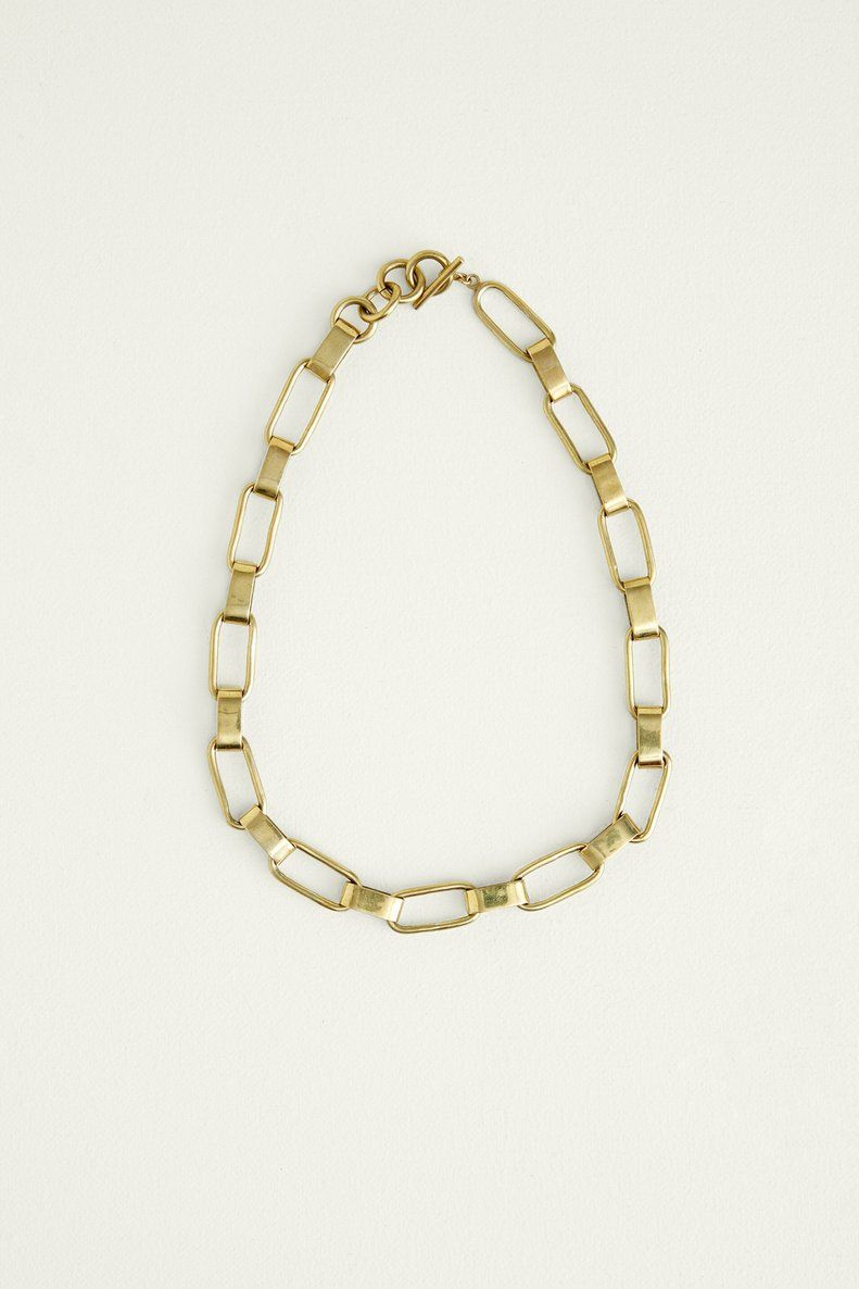 Soko Capsule Collar Necklace Brass Necklaces Amour Vert Collar Necklace Sustainable Jewelry Brass Necklace