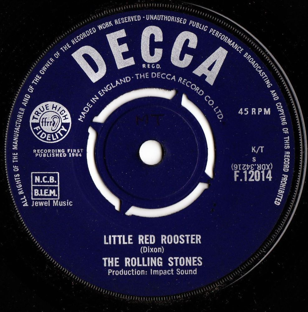 Details About The Rolling Stones Little Red Rooster 1964