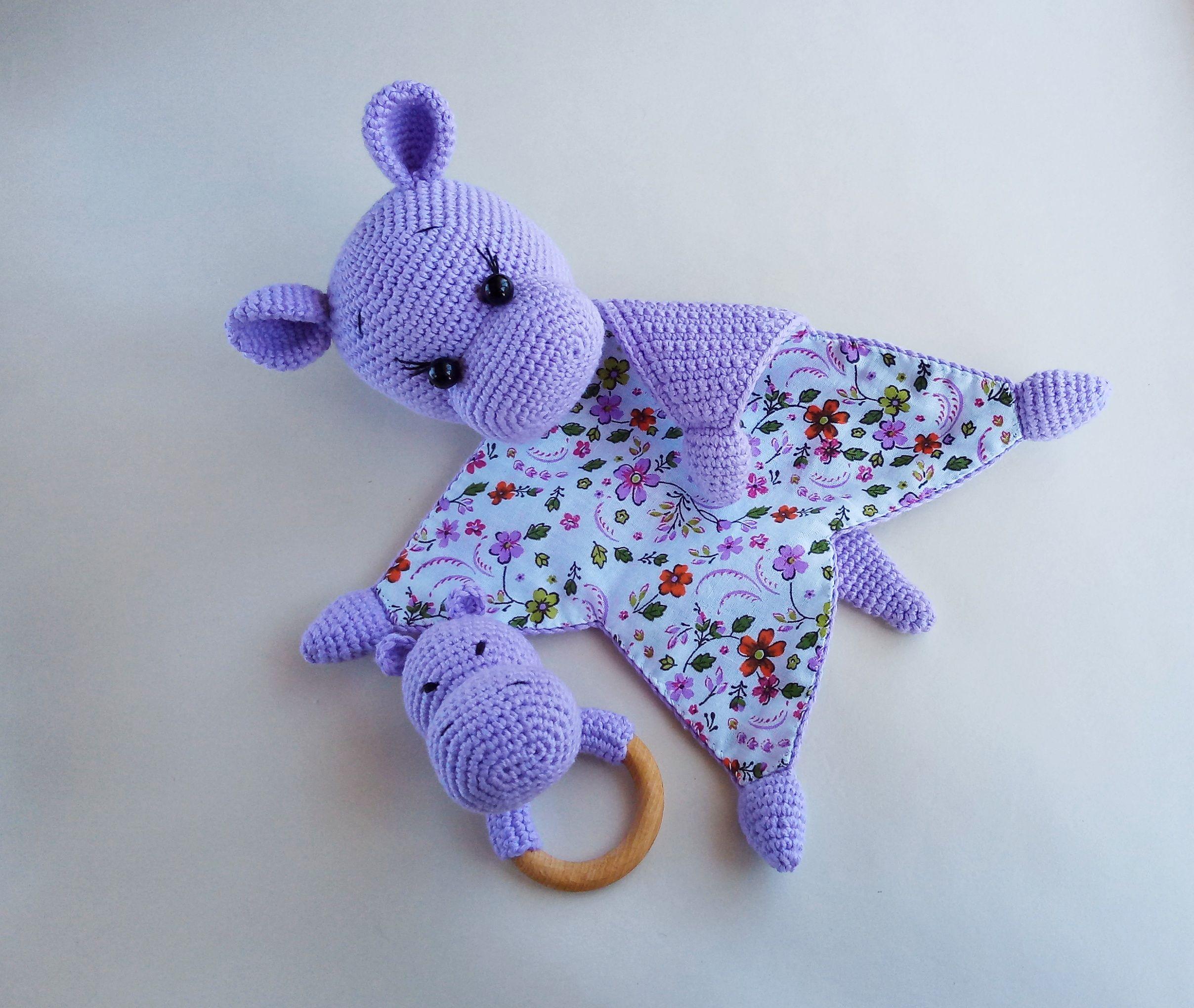 baby comforter natural toy for sleeping #crochetsecurityblanket