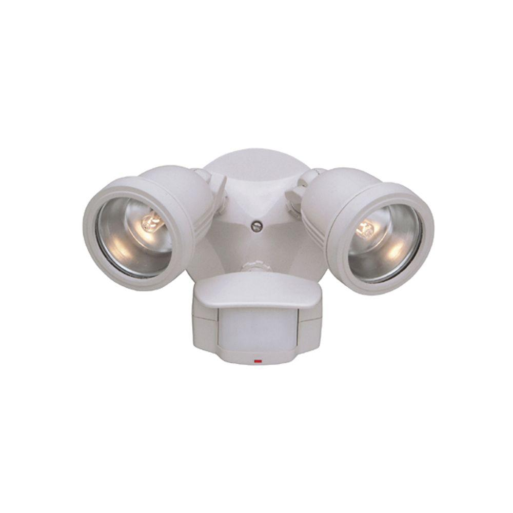 Motion Detector Lights Outdoor Designers Fountain Area And Security 2 Light White Outdoor Halogen