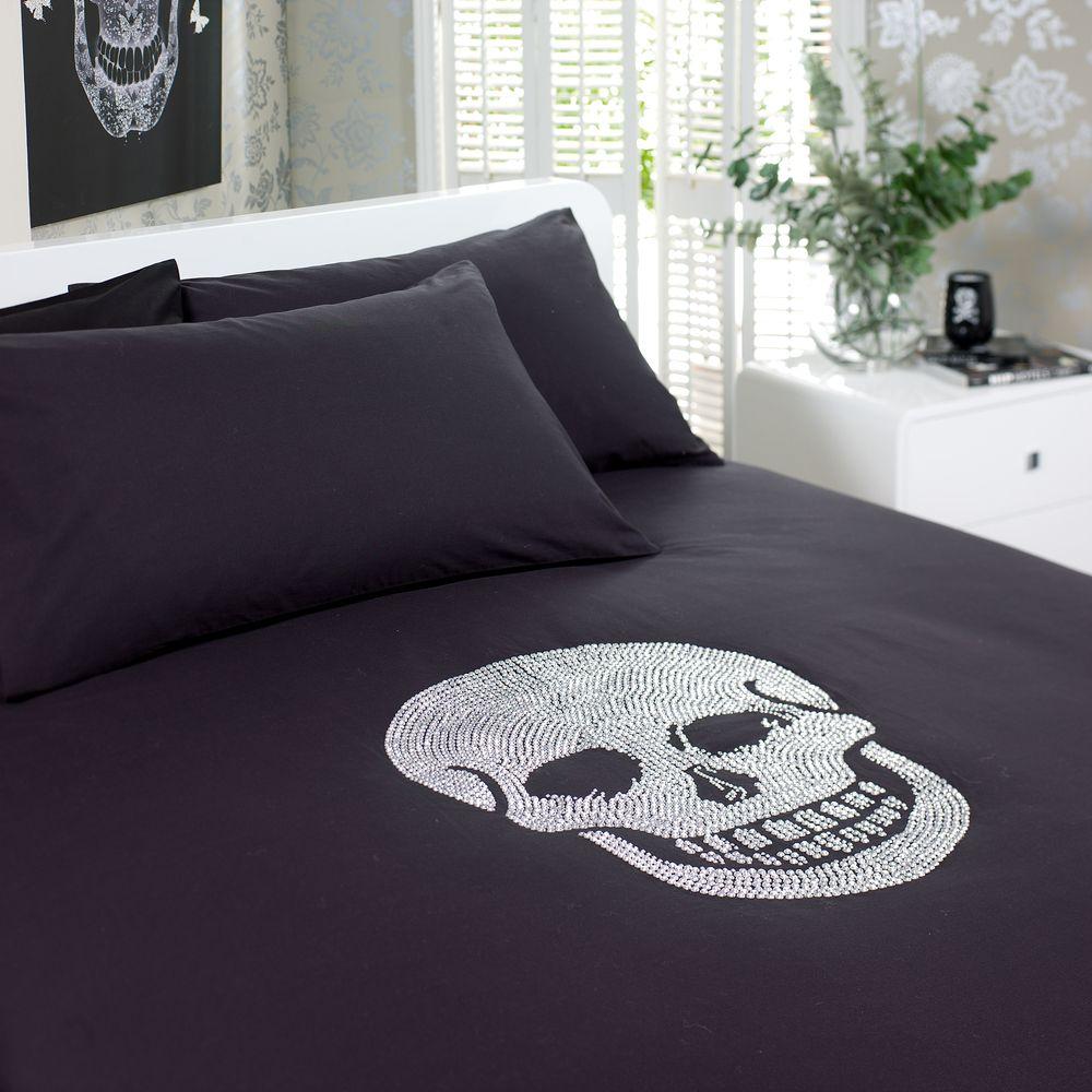 Skull Bedroom Accessories Dwell Diamante Skull Duvet Set King Bedroom Ideas Pinterest