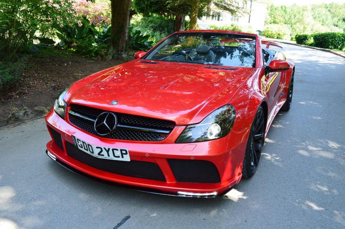 Mercedes sl r230 to sl65 black series conversion wide body kit