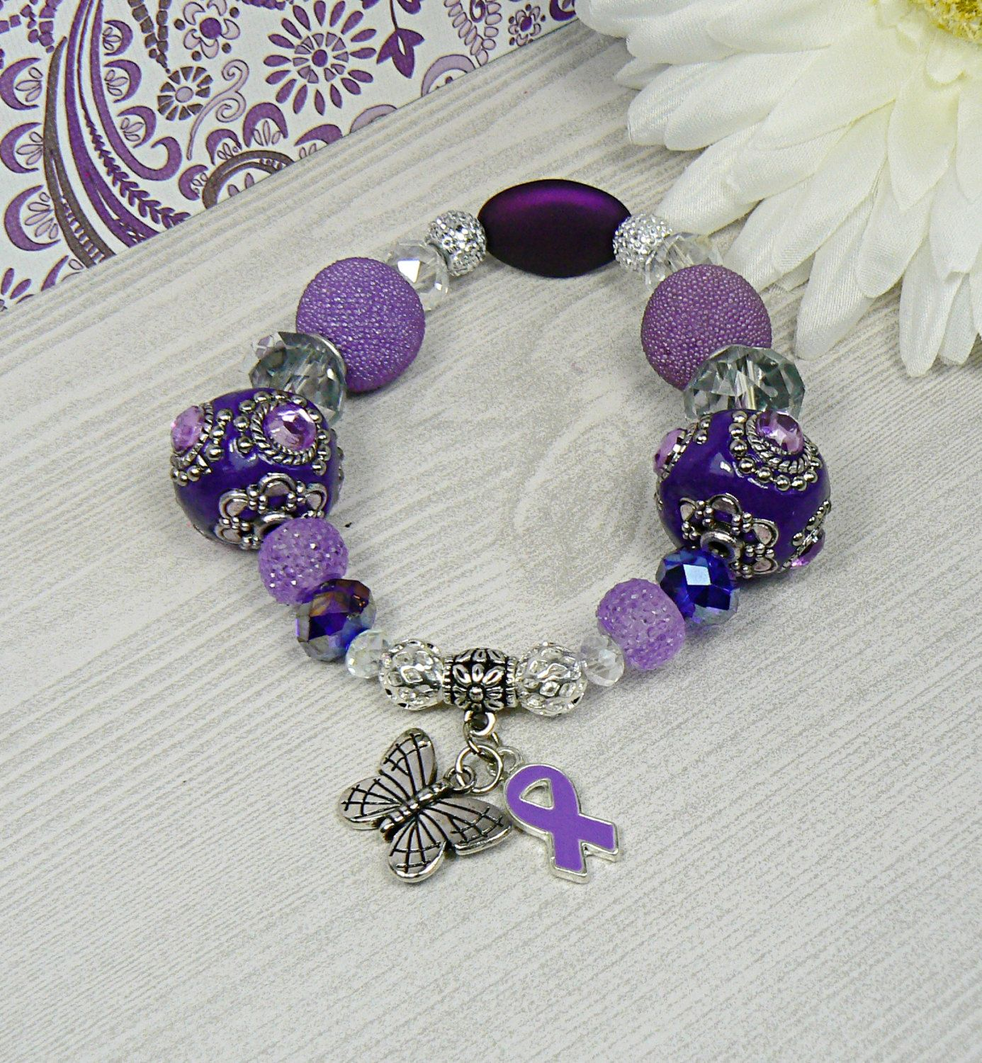 dark bracelet jewelry alzheimer amazon purple s com and prepackaged alzheimers uses dp awareness in white