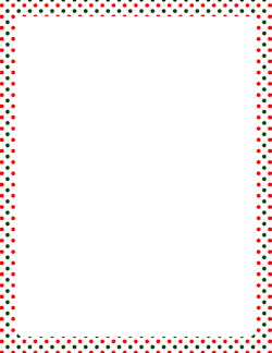 colorful dots border