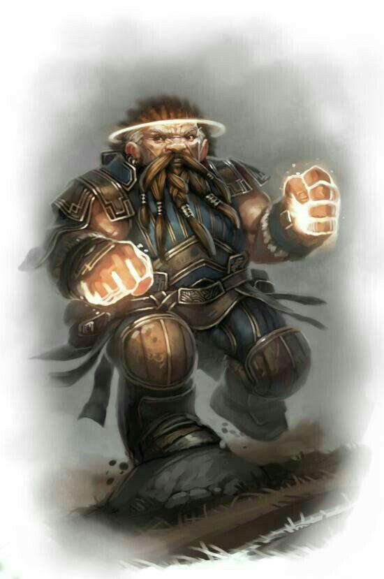 Dwarven Monk Dd People Fantasy Dwarf Fantasy Rpg Dungeons