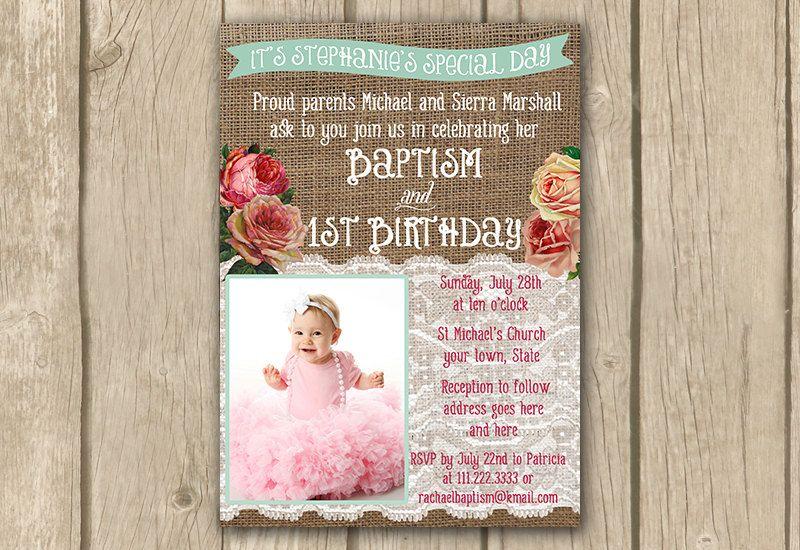 Baptism invite baptism 1st birthday by dulcegraceprintables baptism invite baptism 1st birthday by dulcegraceprintables stopboris Gallery