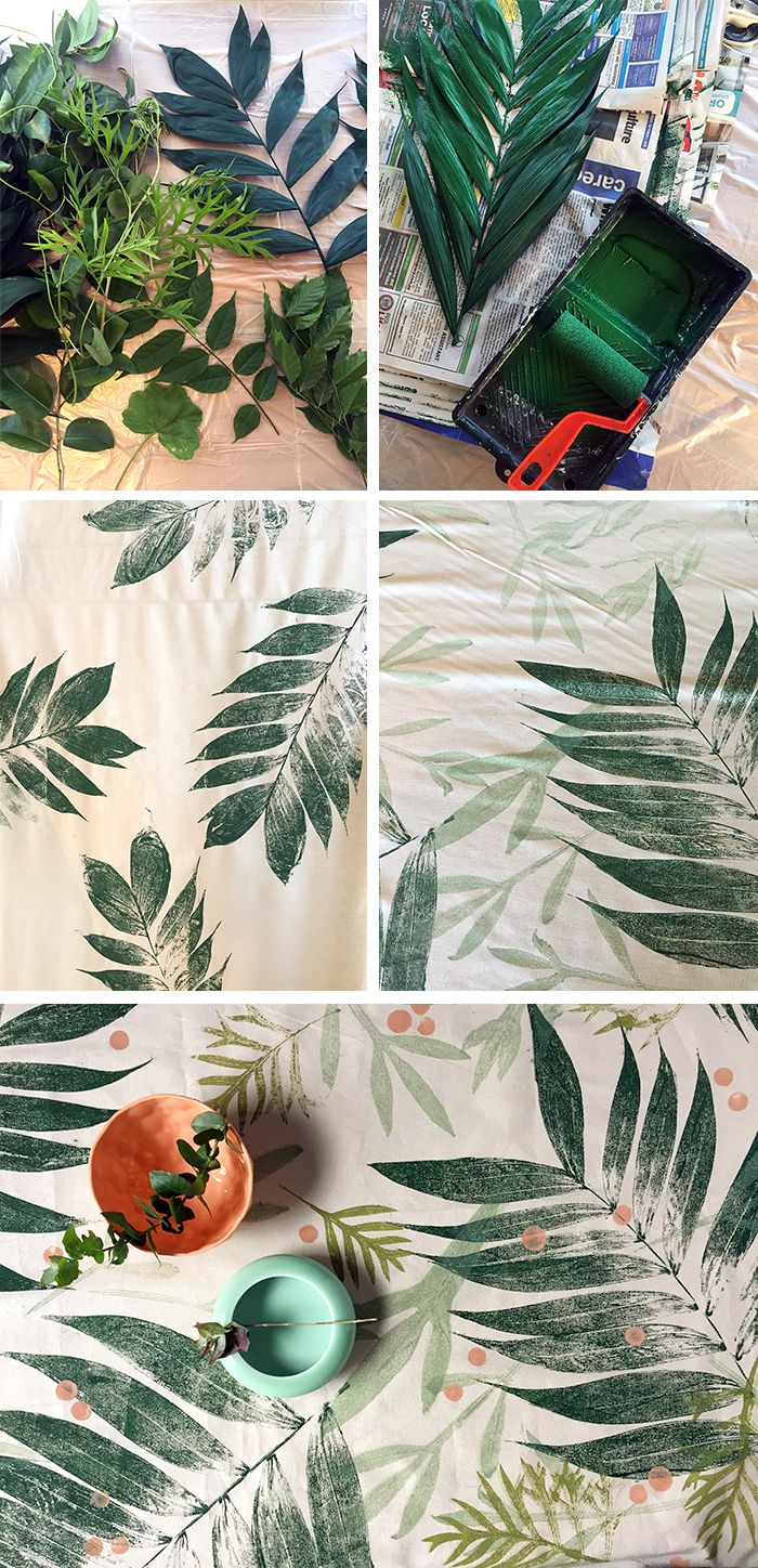 DIY TUTORIAL: How to print with leaves onto fabric ...