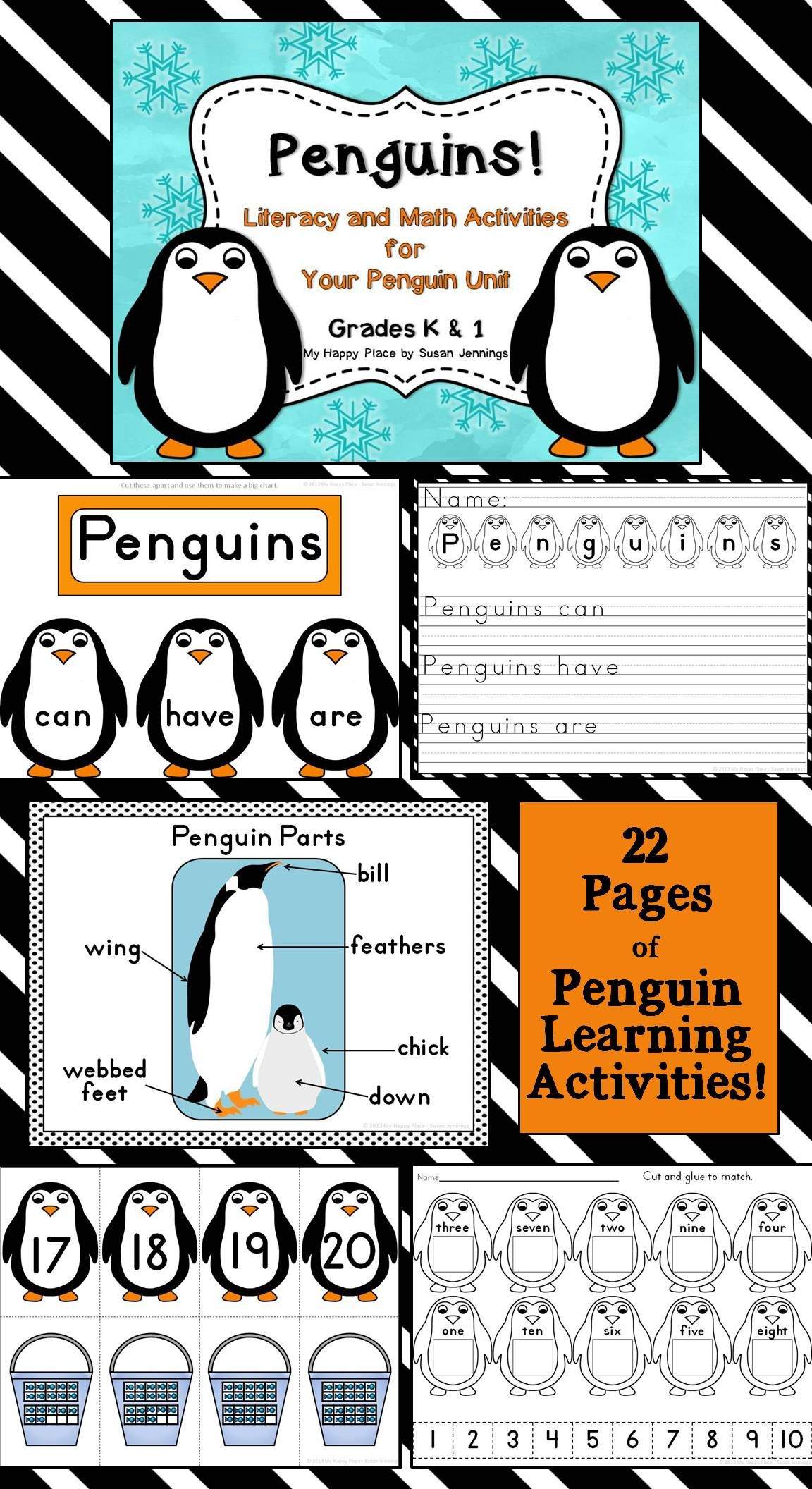 Penguins Thematic Literacy And Math Activities For