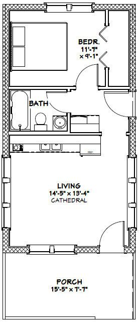 Image result for 14 x 30 house plans guest house for 14x24 cabin plans