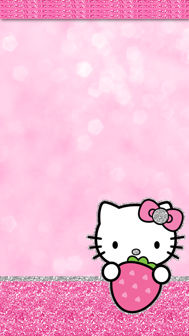 Group Of Kitty Wallpaper Pink