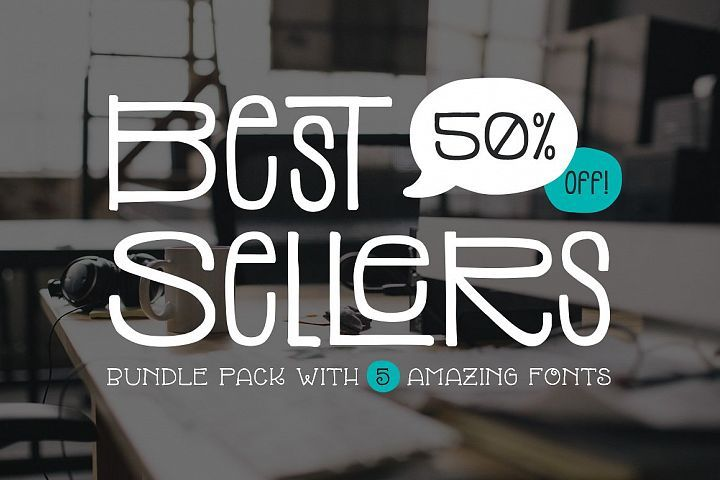 Download Top 5 Bestselling Fonts Bundle Pack | Cool fonts, Thin ...