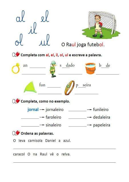 Baixe Em Pdf Atividades De Portugues Al El Il Ol Ul