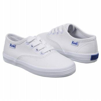 keds white canvas shoes | Kids Keds ' Champion CVO Tod/Pre White ...