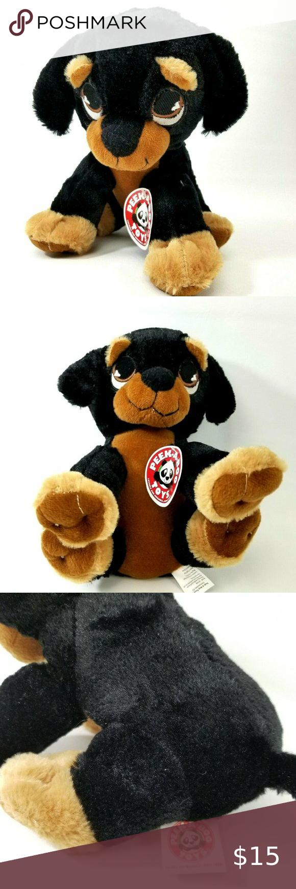 Rottweiler Puppy Dog Plush By Peek A Boo Toys Boo Toy Rottweiler Puppies Dogs And Puppies [ 1740 x 580 Pixel ]