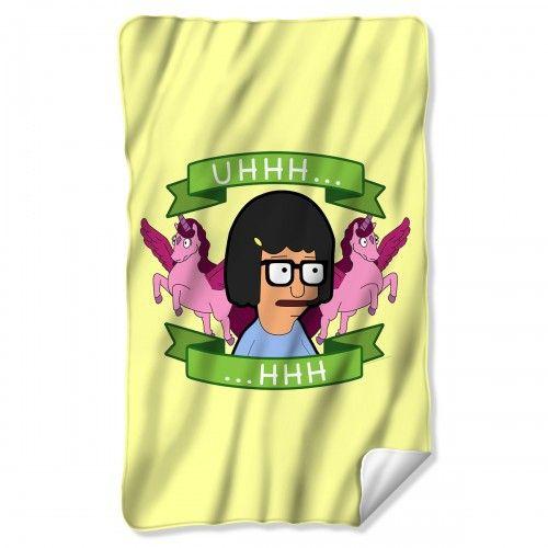 bob s burgers tina uhhh fleece blanket fox shop gifts