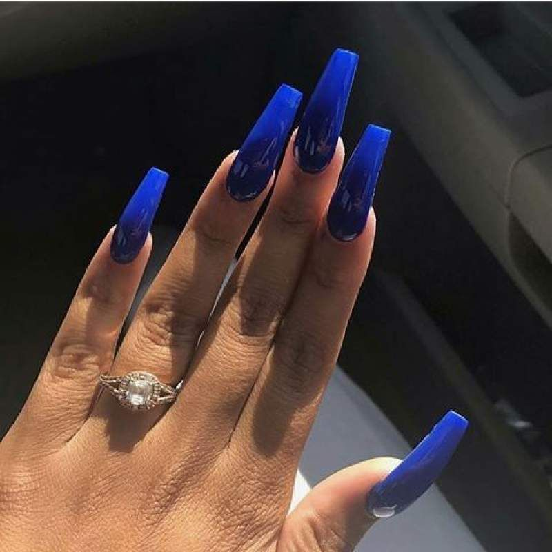 Color For 663333 Gold Nails Engaging Nail Design Ideas Black Gel Purple Acrylic Nails Blue Acrylic Nails Black Nail Designs