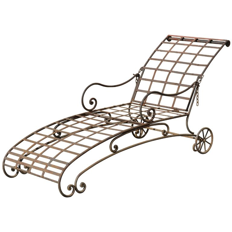 1stdibs Wrought Iron Chaise Lounge Wrought Iron Patio Chairs