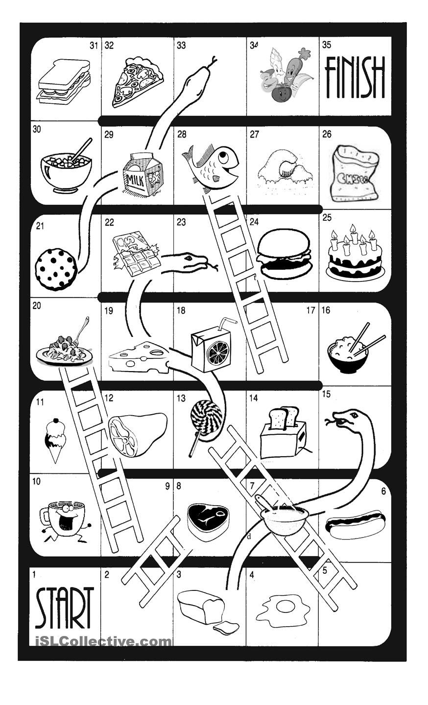 snakes and ladders printable template - snakes and ladders food esol kids pinterest snake