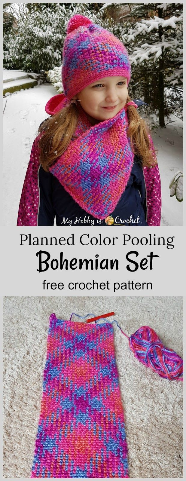 Planned color pooling bohemian hat cowl set free crochet planned color pooling bohemian hat cowl set free crochet patterns bankloansurffo Image collections