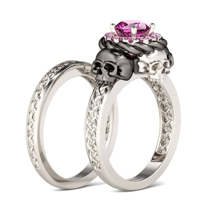 72 Incredible Styles In Couple Rings To Let Everyone Envy Your Possession Skull Wedding