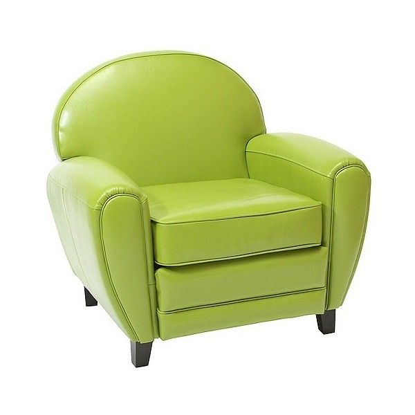 Delicieux Club Chair: Leather Chair: Upholstered Chair: Oversized Lime Green...  ($246) ❤ Liked On Polyvore Featuring Home, Furniture, Chairs, Accent Chairs,  ...
