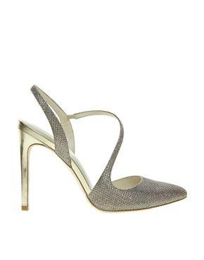 7f8b95225c5 Karen Millen Glitter Gold Court Shoes | Walk the walk | Gold court ...