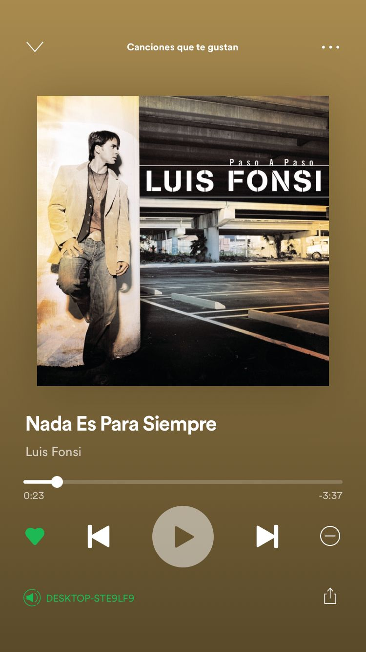 Nada Es Para Siempre Luis Fonsi Canciones Letras De Canciones Hasta Mañana