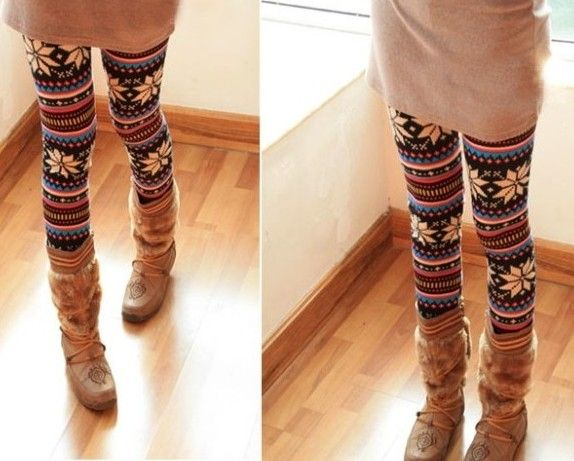 Such cute tights, like a fair isle sweater for your legs | Clothe ...