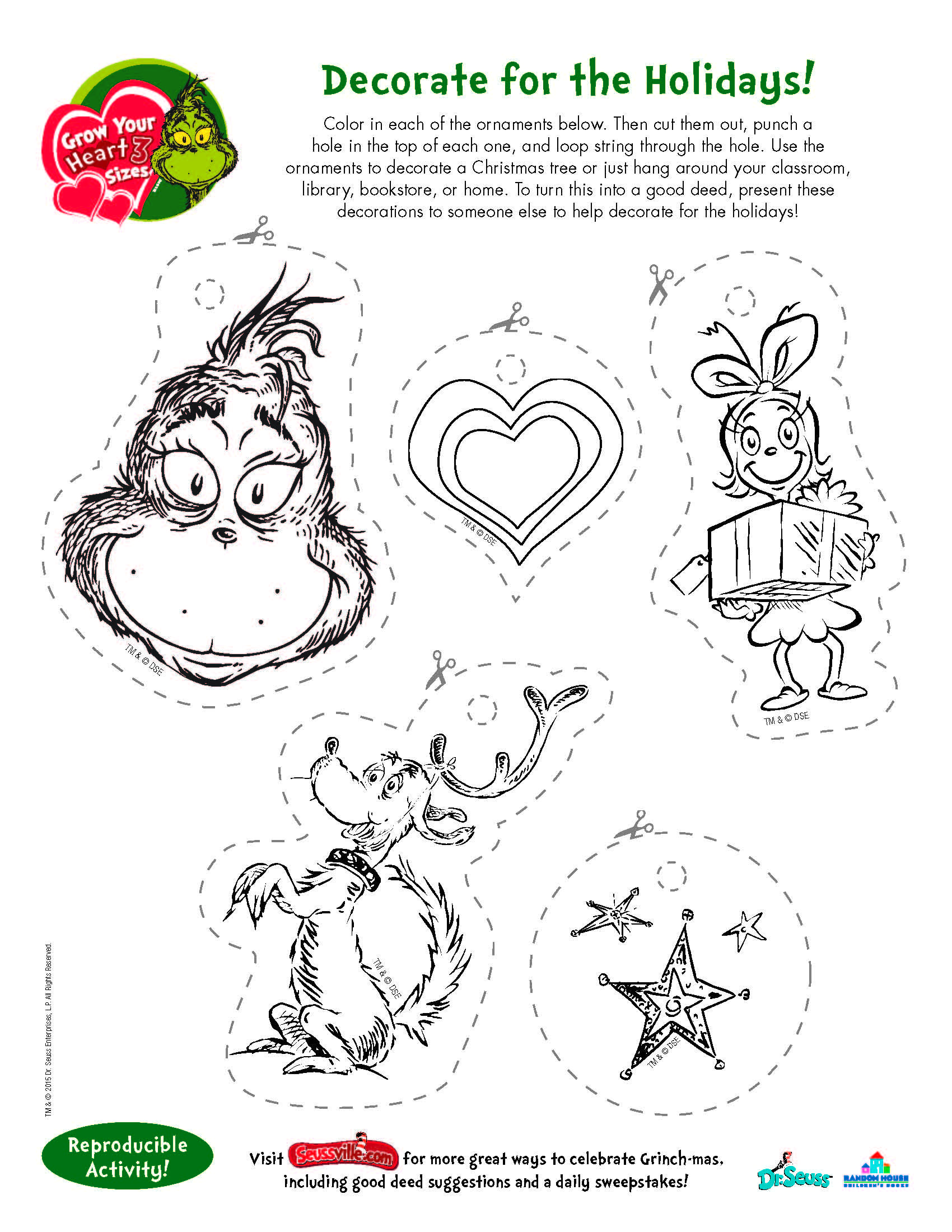 Christmas lights coloring pages. grinch Grinch coloring