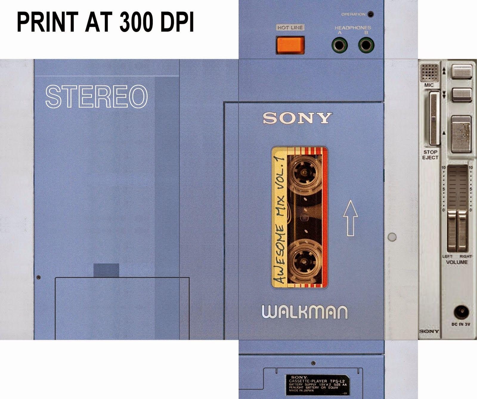 GOTG+Walkman+Printable.jpg 1,600×1,339 pixels | Halloween fun ...