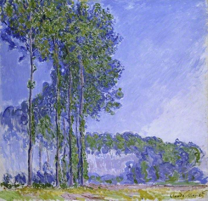 Poplars / Claude Monet / 1891 / oil on canvas | Monet art, Claude monet  paintings, Claude monet art