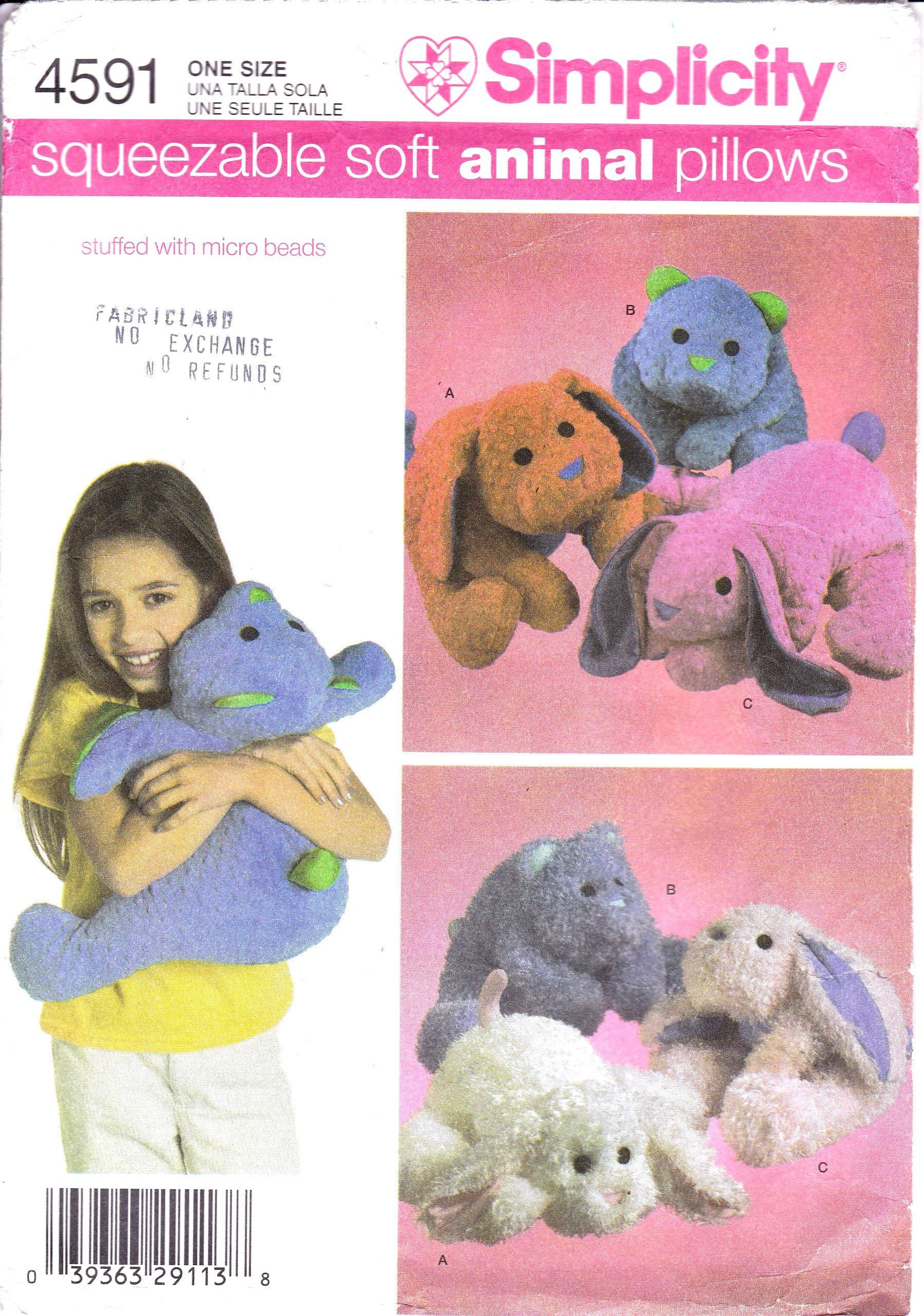 Squeezable soft micro bead animal pillows dog pillow bear pillow