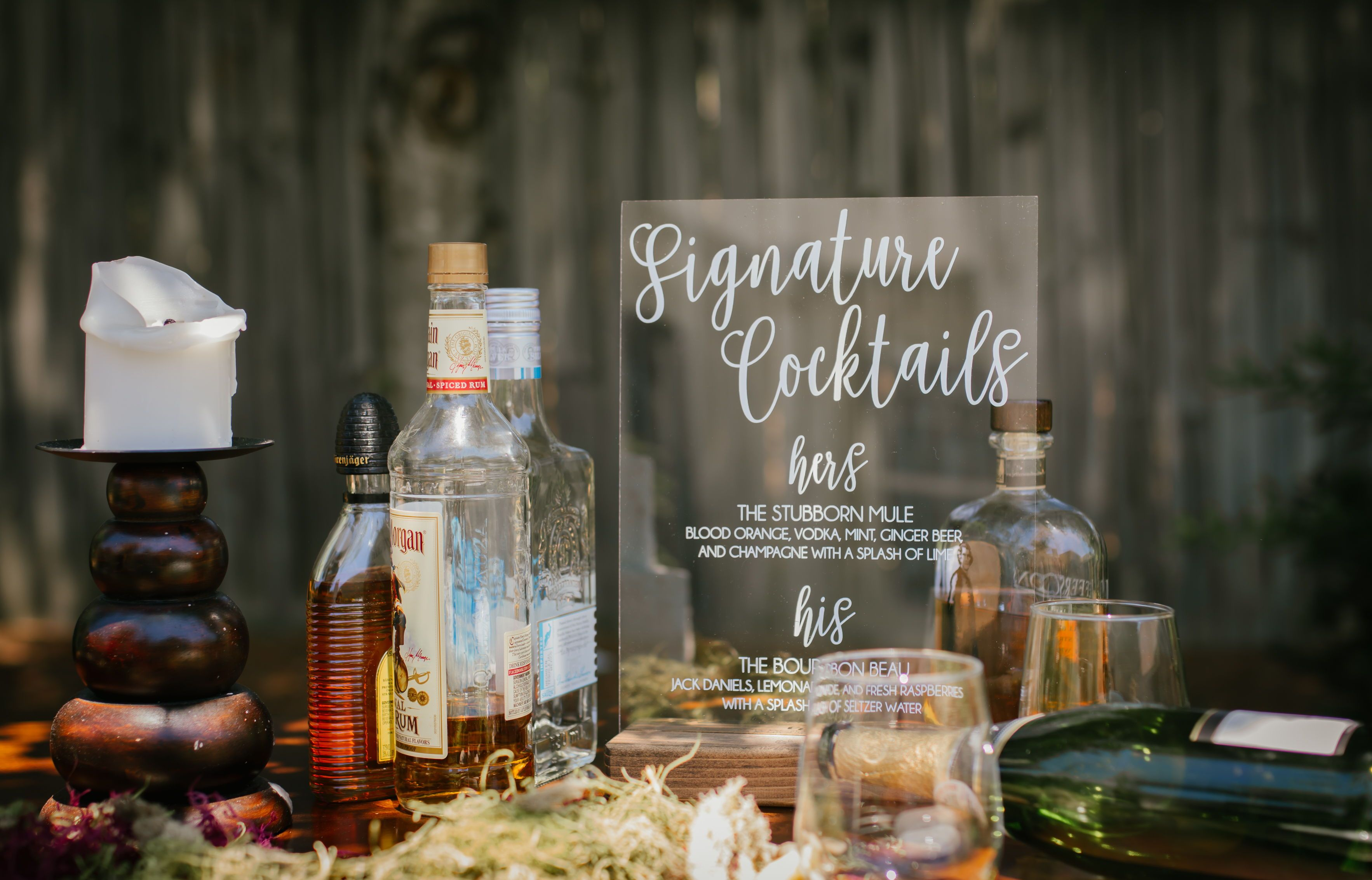 List your Signature Wedding Drinks on a Signature