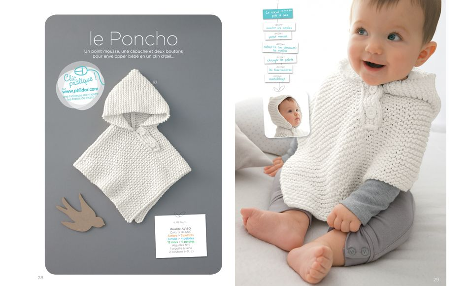 phildar baby poncho | Projects to try | Pinterest | Ropa bebe, Dos ...