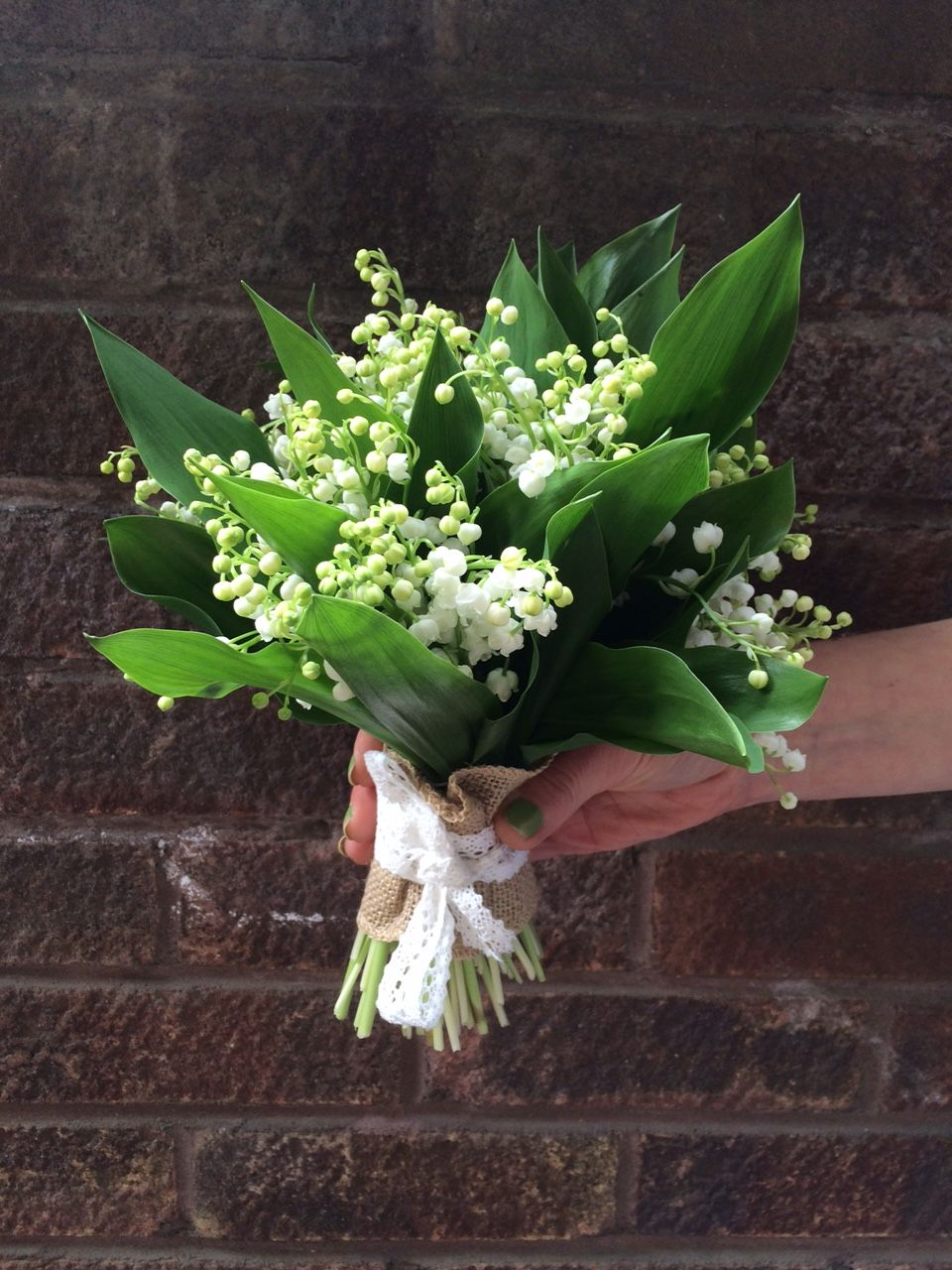 Heavenly Scented Tied Posy Of Lilyofthevalley Its Just So Simple
